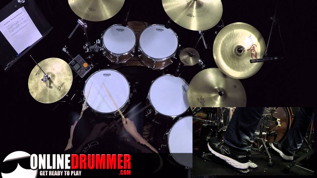 Drum Lesson - Stressed Out Drum Beat - YouTube