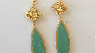 How To Make Cool Popsicle Stick Earrings - Diy Style Tutorial - Guidecentral