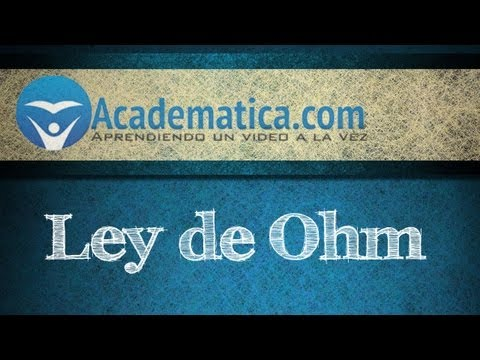 Video de la ley de ohm