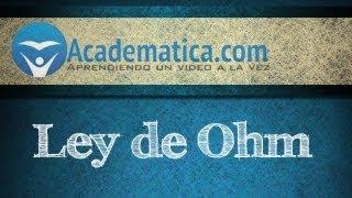 Video de la ley de ohm