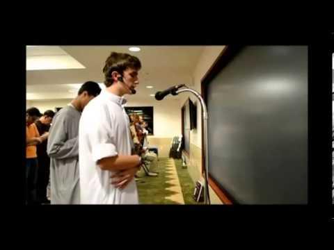 Quran recitation by a young european