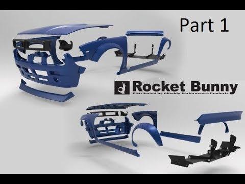 Time lapse of Rocket Bunny v2 Boss s14 body kit assembly (part 1)