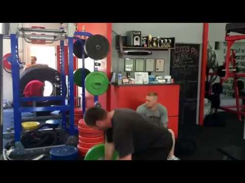 Strongman Gold Coast training group at Coco's Gym, Saturday 25 October 2014.