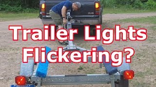 FIX YOUR TRAILER LIGHTS (6) - Trick For Flickering Lights