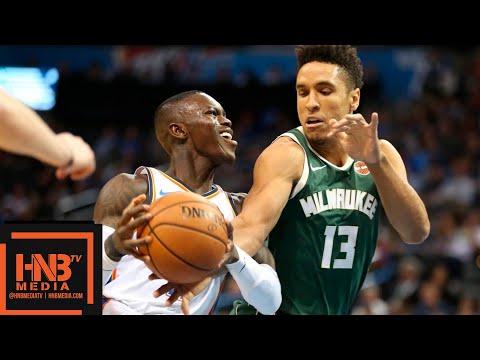 Oklahoma City Thunder vs Milwaukee Bucks 1st Half Highlights   10.09.2018, NBA Preseason