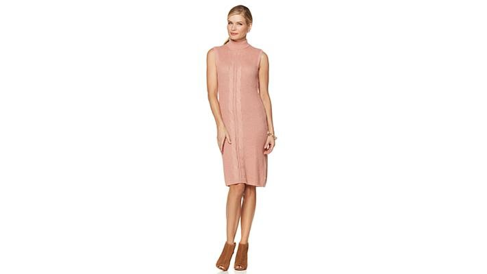 Serena Williams Sleeveless Cable Knit Sweater Dress Youtube
