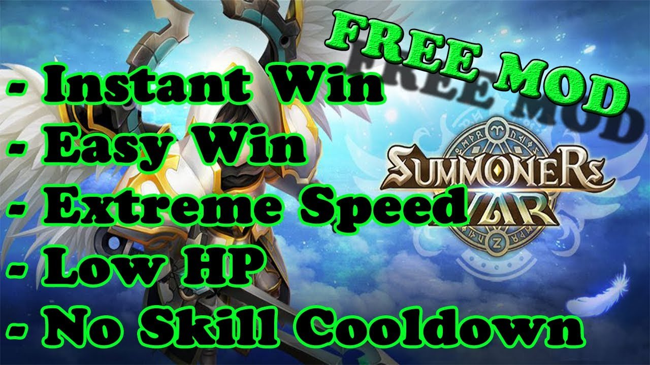 FREE! Summoners War MOD APK | No Skill Cooldown | Instant Win | High Speed | Easy Win | Low HP  #Smartphone #Android