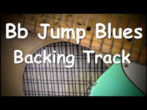 Jump Blues Backing track in Bb- B flat medium tempo shuffle