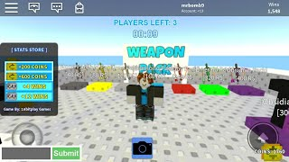 Roblox skywars but when i die i get a stronger pack
