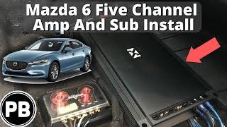 2014 - 2017 Mazda 6 NVX 5 Channel Amp Install - YouTube | 2014 Mazda 6 Wiring Harness |  | YouTube