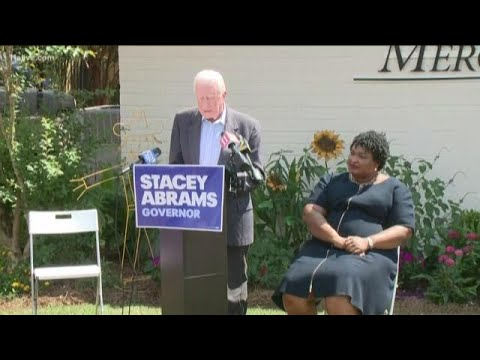 Former President Jimmy Carter, Stacey Abrams campaign in Plains, Georgia