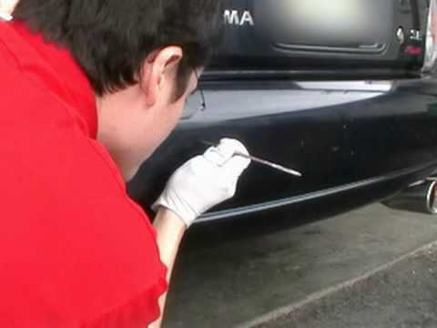 how to touch up bumper scratches