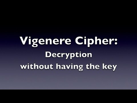 Vigenere Cipher - Decryption (Unknown Key)