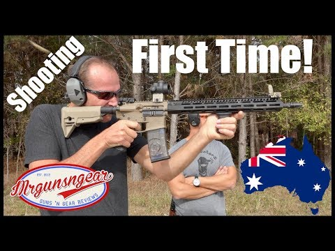The Experience: Australian's First Time Ever Shooting A Gun!