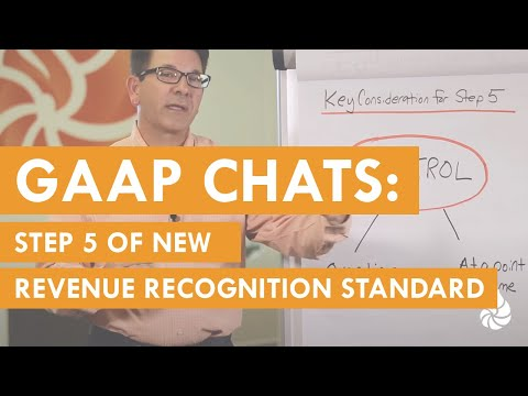 GAAP Chats: Step 5 of New Revenue Recognition (HD)