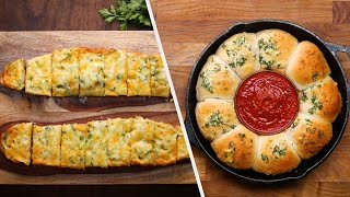 Warm And Cheesy Garlic Breads  Tasty Recipes