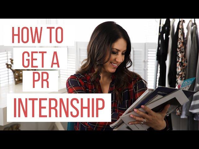 How to Get a PR Internship! | The Intern Queen