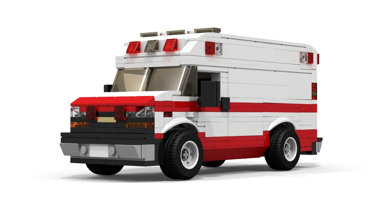 Lego moc chevrolet express ambulance overview youtube - Lego ambulance ...