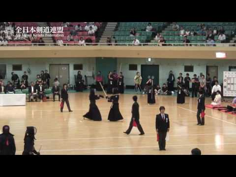CHIBA vs YAMAGUCHI  -The 8th All Japan Interprefecture Ladies Kendo Championship 2016 1st Round