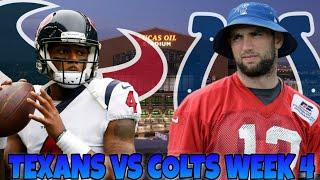 Houston Texans vs Indianapolis Colts NFL Week 4 Prediction