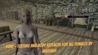 Skyrim SE Xbox One Mods|RUNP - Texture And Body Replacer For All