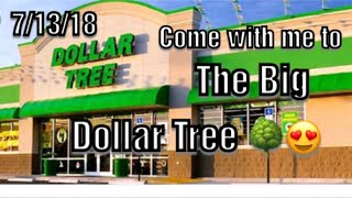 Come with me to the Big Dollar Tree 7/13/18. Lots of NEW ITEMS, Stationary, Decor, Candles, & More.
