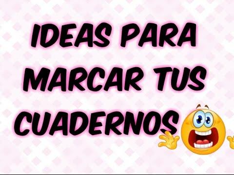 Ideas Para Marcar Tus Cuadernos *Danii Banda* YouTube