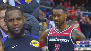 LeBron James Frustrated With Lakers After Getting Destroyed By John Wall! Lakers vs Wizards