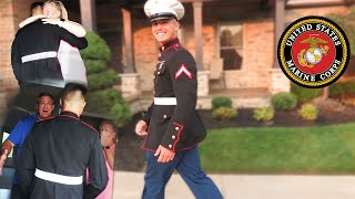 U.S. Marine SURPRISES Family With An EMOTIONAL Homecoming!!