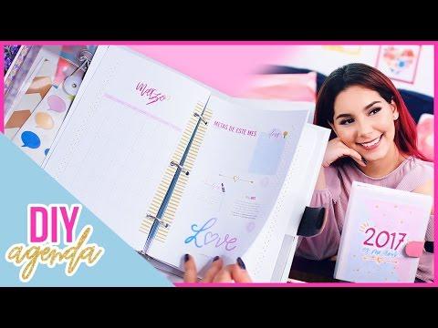 DIY AGENDA 2017 para imprimir gratis (Haz tu propia agenda fácil y bonita) ♥ Jimena Aguilar