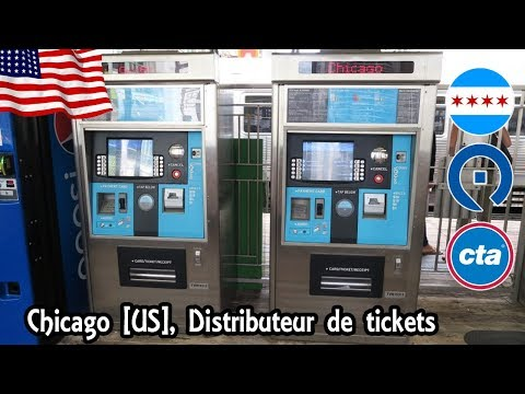 Chicago, Etats-unis [USA] CTA Distributeur De Tickets - Acheter Un Carte Ventra