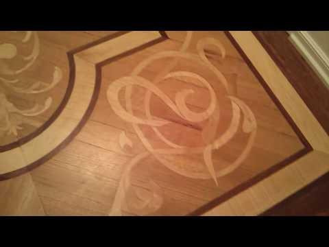 Beautiful wood floor inlays Lehman Arts Bldg, NYC