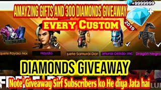 Free Fire live diamonds giveaway I play with Subscribers Custom