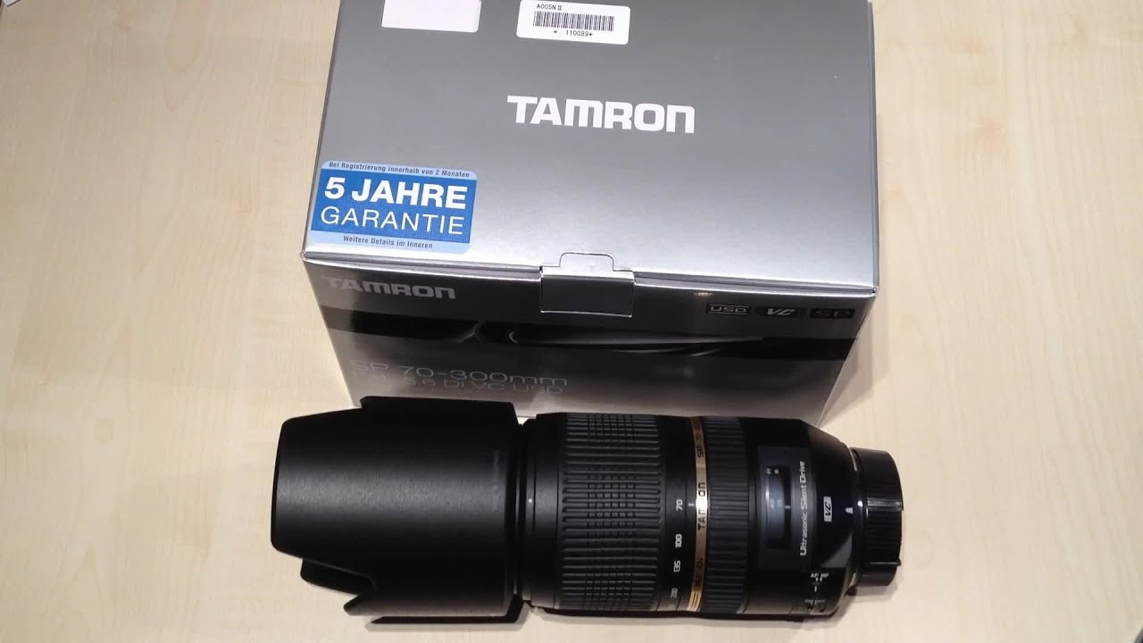 tamron sp 70 300mm f 4 5 6 di vc usd unboxing nikon. Black Bedroom Furniture Sets. Home Design Ideas