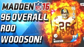 96 OVERALL WOODSON! ELITE EXHANGE LEGEND?! Nope. - Maddenm 16 Ultimate Team