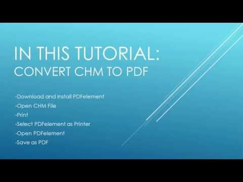 How To Convert CHM To PDF Files