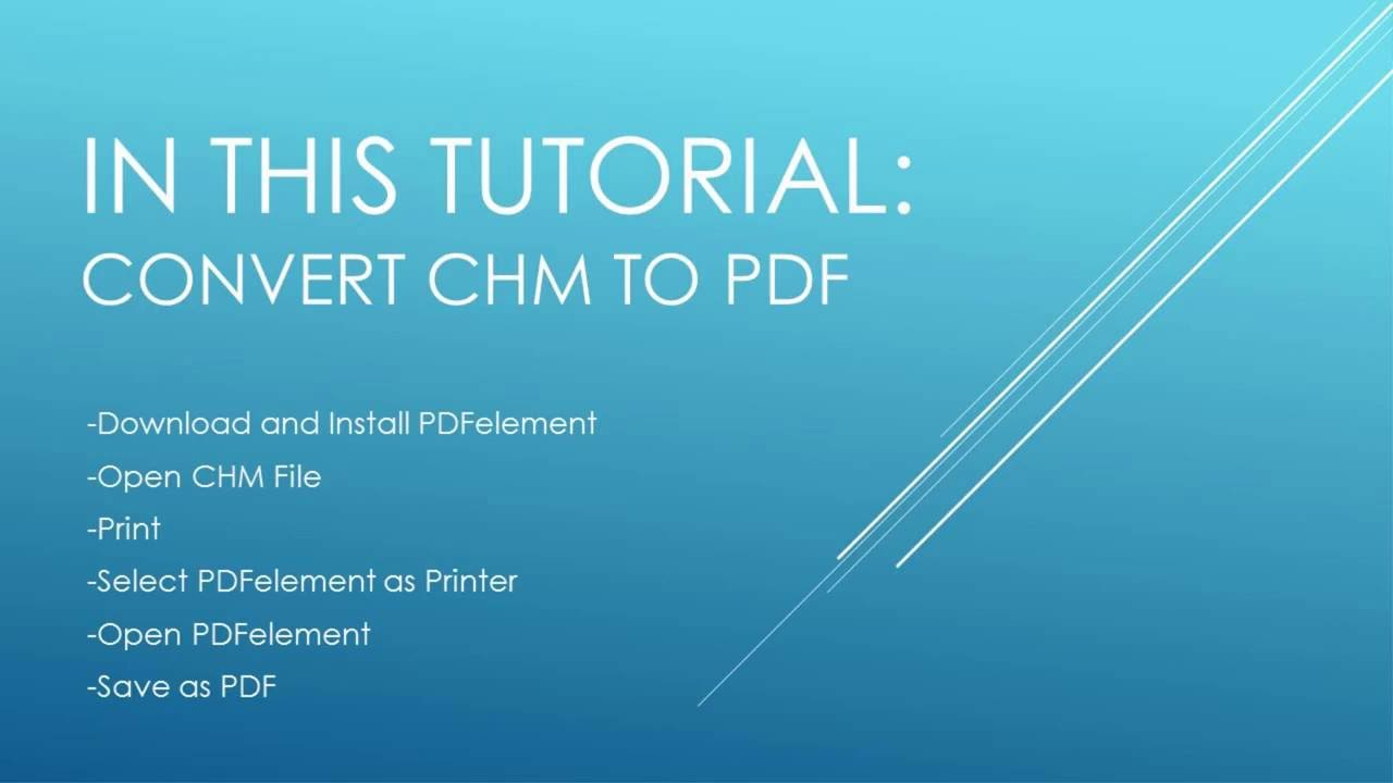 How To Convert Compiled Html Help File To Pdf