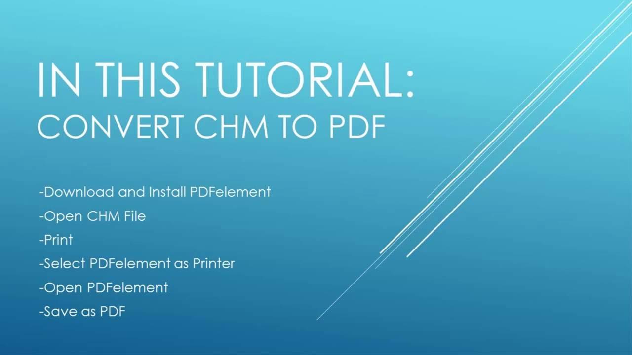 chm file to pdf converter free download