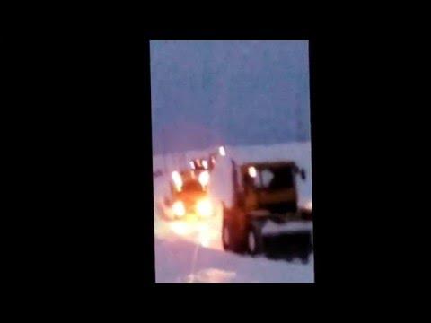 Снежный плен Весной в Башкирии 16.03.16