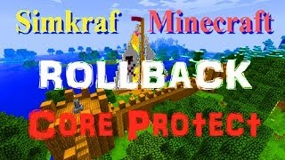 CoreProtect Rollback Grief Minecraft Tutorial