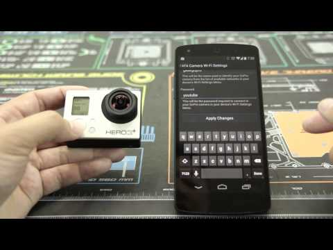 How to Connect the Go Pro App to the Hero3+ Series