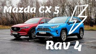 Mazda CX-5 или Toyota RAV4? Разжигаем антагонизм, с отрывом колес. ТЕСТ ДРАЙВ ОБЗОР 2020