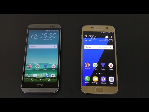HTC One M8 vs Samsung Galaxy S7 - Speed Test!
