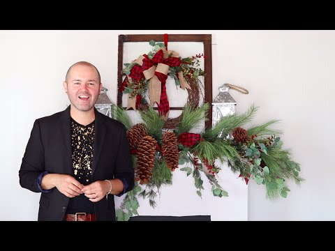 How To Decorate A Mantel For The Holidays / Farmhouse Style Christmas Decorating Ideas