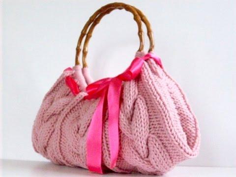 4003e0b41e0b 36 идей сумок спицами. Чудесные вязанные сумки спицами - YouTube