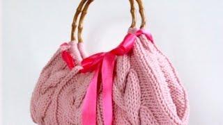 36 идей сумок спицами. Чудесные вязанные сумки спицами