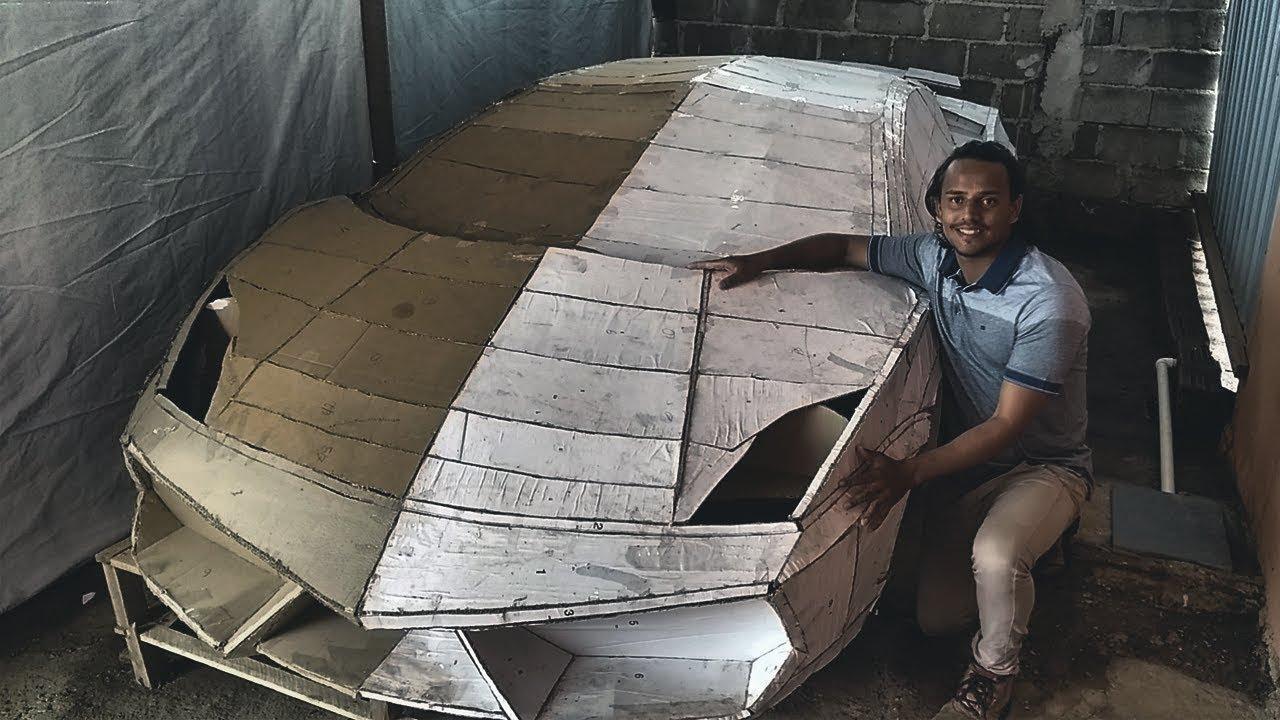 Projeto carro esportivo de papelão Henrique Carvalho