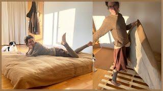 eigene Matratze nähen und Bett bauen I Minimalismus I DIY