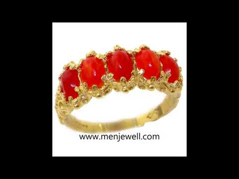 Latest Jewellery Coral / Munga Ring Design Collection for men by menjewell.com