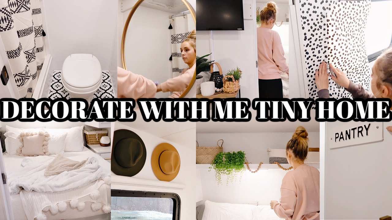 DECORATE WITH ME TINY HOME   SMALL SPACE DECOR   BOHO FARMHOUSE STYLE